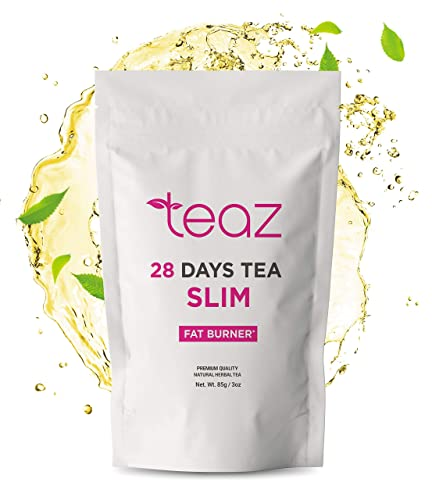 TEAZ SLIM-28 Days F-Burn Tea For Women Men Traditional Active Herbal Complex 85g-3oz Loose Leaf Without Additives 100 Natural Dietary Supplement Vegan Gluten-Free