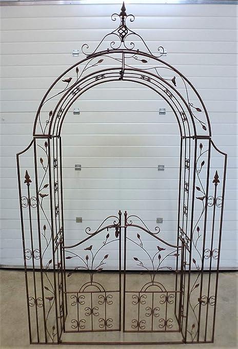 Arco Pergola enrejado rosas – Puerta enrejado de jardín de ...