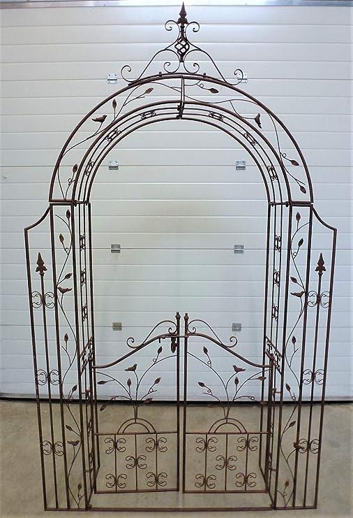 Arco Pergola enrejado rosas – Puerta enrejado de jardín de puerta apuntado apuntado pérgola Jardín Rose metal: Amazon.es: Jardín