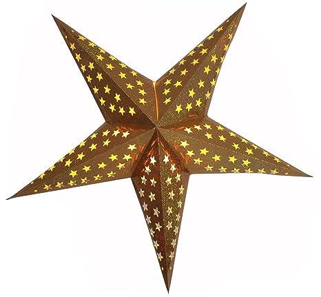 Stella Di Natale A 5 Punte.Brubaker Stella Di Natale Stella Di Carta Con 5 Punte Star Cutting