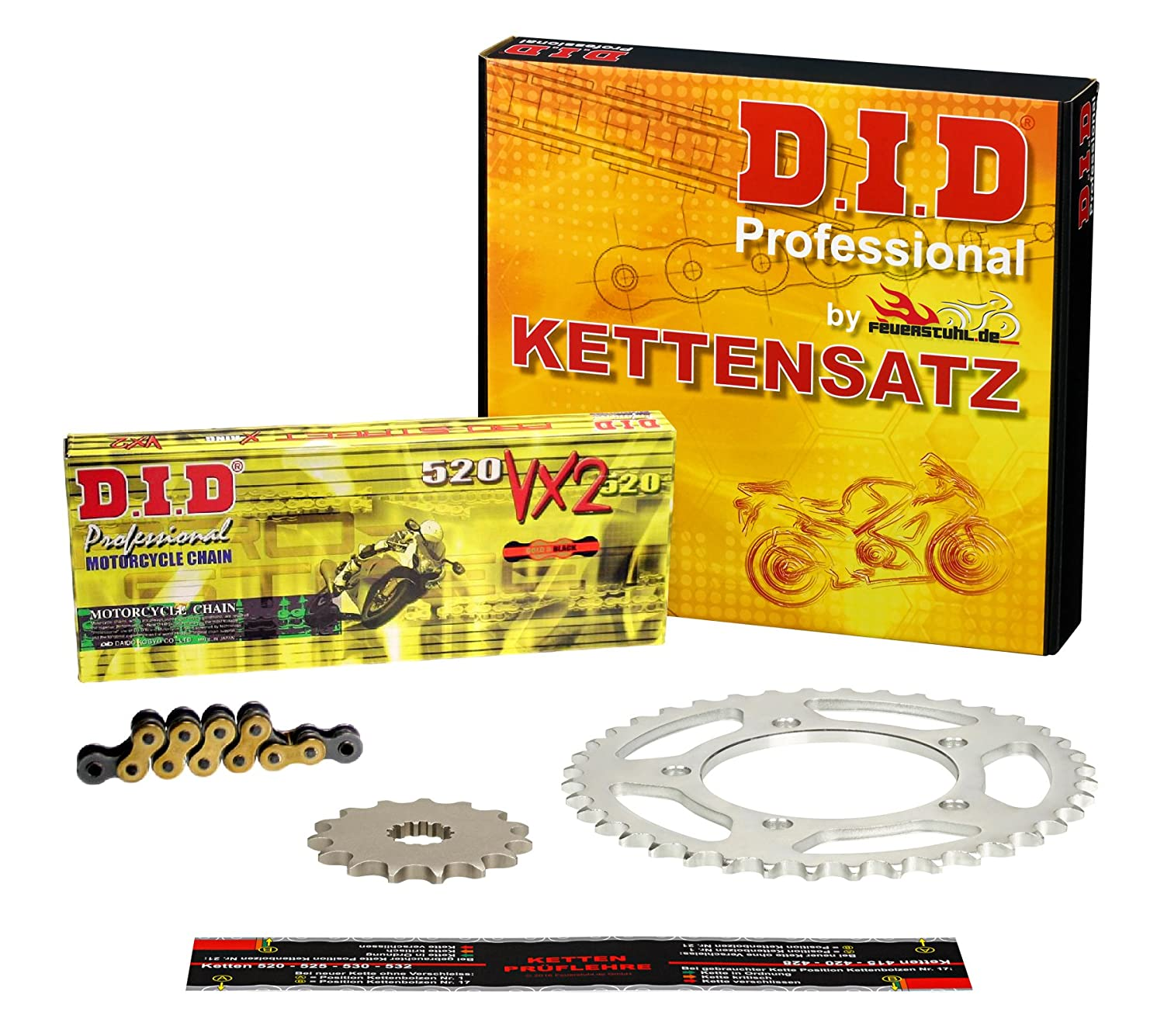 2013 Kettensatz CRF 250 L DID X-Ring extra verst/ärkt gold MD38