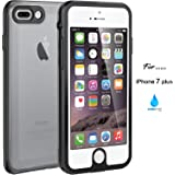 iPhone 7 Plus Case, ASAKUKI Shockproof IP68 Waterproof Case with Scratch Proof Screen Protector Protective Full Body Cover SnowProof DustProof Case for iPhone 7 Plus