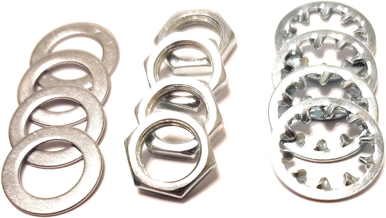 12 sets US Thread 3//8 inch x 32 Potentiometer Nuts Trim Lock Washers