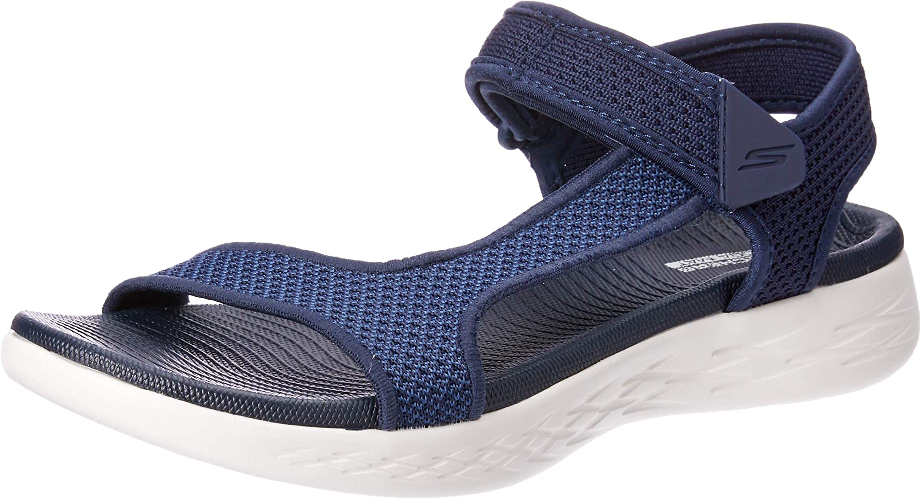 Skechers On The Go 600 Rubix Womens Sandals Navy White 5 Sport Sandals Slides
