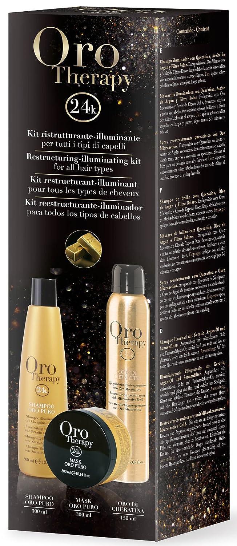 Fanola ORO PURO Therapy Luxury Hairtreatment KIT 3-teilig
