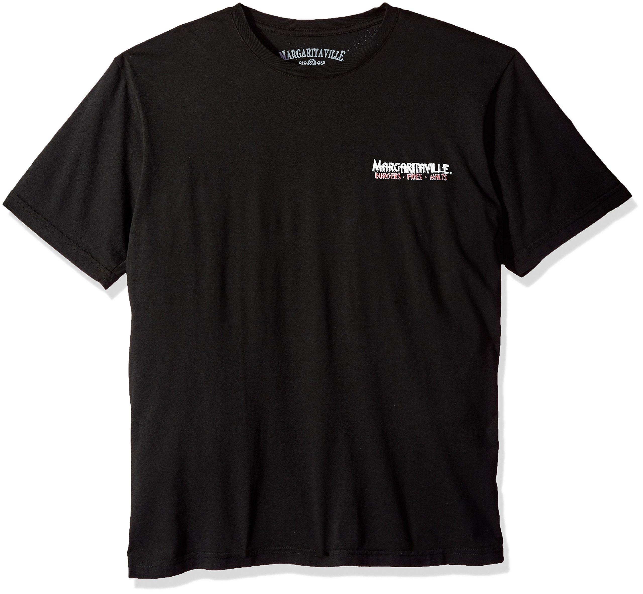 Margaritaville Men's Short Sleeve Cheeseburger Diner T-Shirt, Black, 2X-Large