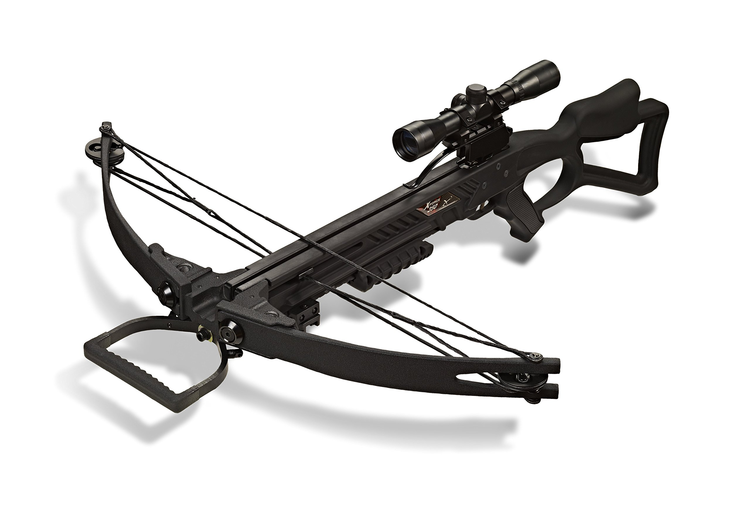 Carbon Express 20271 X-Force 350 Crossbow Kit (Rope Cocker, 3 Arrow Quiver, 3 Crossbolts, Rail Lubricant, 3 Practice Points, 4x32 Scope), Black by Carbon Express (Image #2)