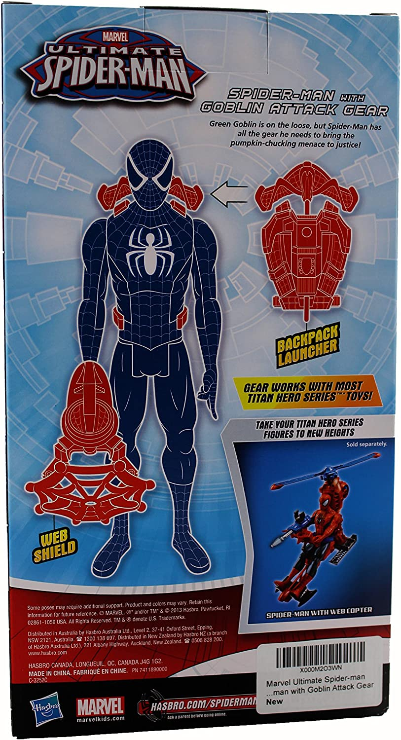 Marvel Action Toy Figure Spiderman With Goblin Attack Gear