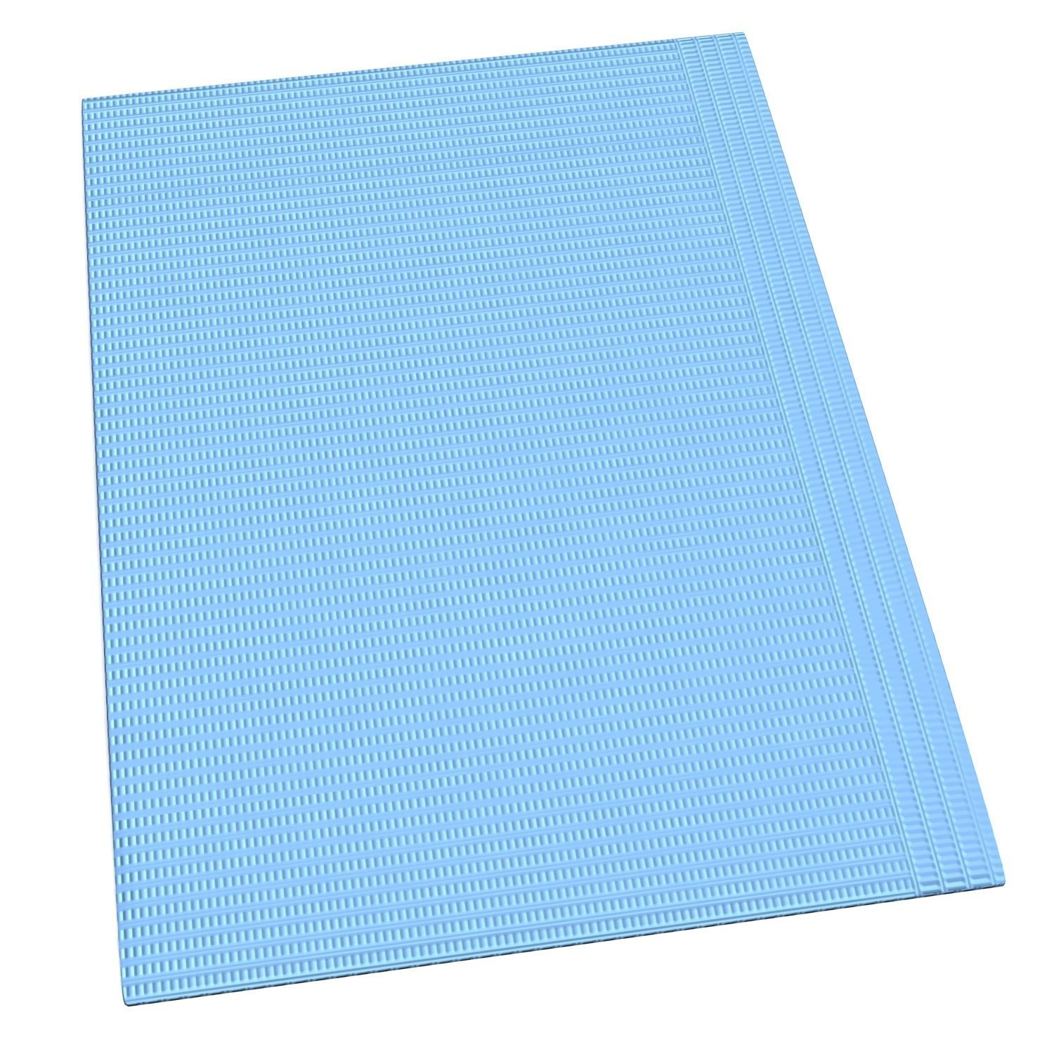 500 dental bibs 13''x 18'' (patient Towels), 3 ply (2-ply Paper, 1 Ply Poly) Premium Quality. BLUE