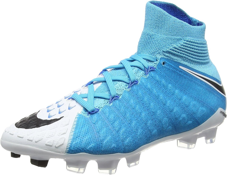 Nike Jr Hypervenom Phantom 3 DF FG, Chaussures de Football Mixte Enfant