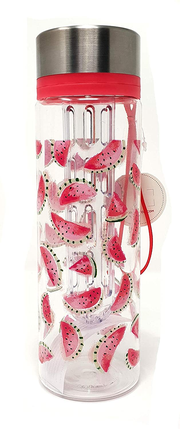 Cath Kidston Light Cameo Pink Mini Watermelons Fruit Water Bottle