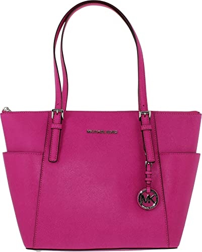0eddfac06d Amazon.com  Michael Kors Jet Set East West Top Zip Tote FUSCHIA with SILVER  Hardware  Michael Kors  Shoes