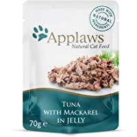Applaws Tuna and Mackerel Cat Jelly Pouch, 70g Pouches (Pack of 16)