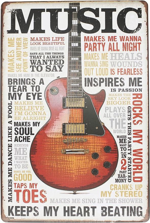 hioni Music inspires Me keeps My Heart Beating Guitarra Vintage ...