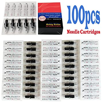 Bochang 60pcs Mixed Disposable Tattoo Cartridge Needl Tattoo Needles Cartridge Tattoo Needles, Grips & Tips