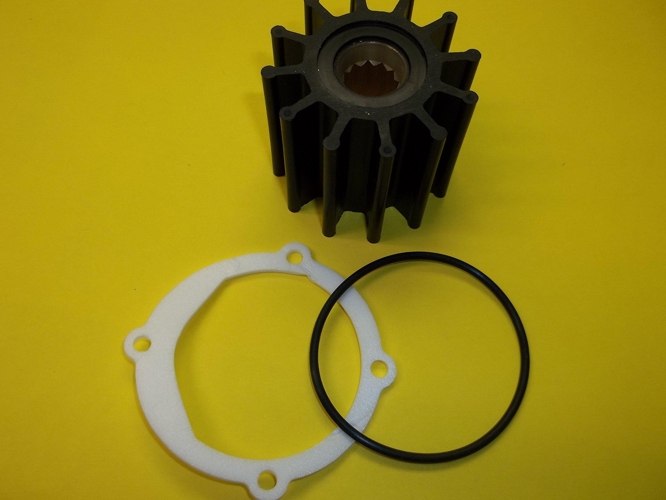 Water pump impeller for Volvo Penta 3.0 4.3 5.0 5.7 8.1 V6 V8 engines. Johnson F6B-9 09-812B and Indmar