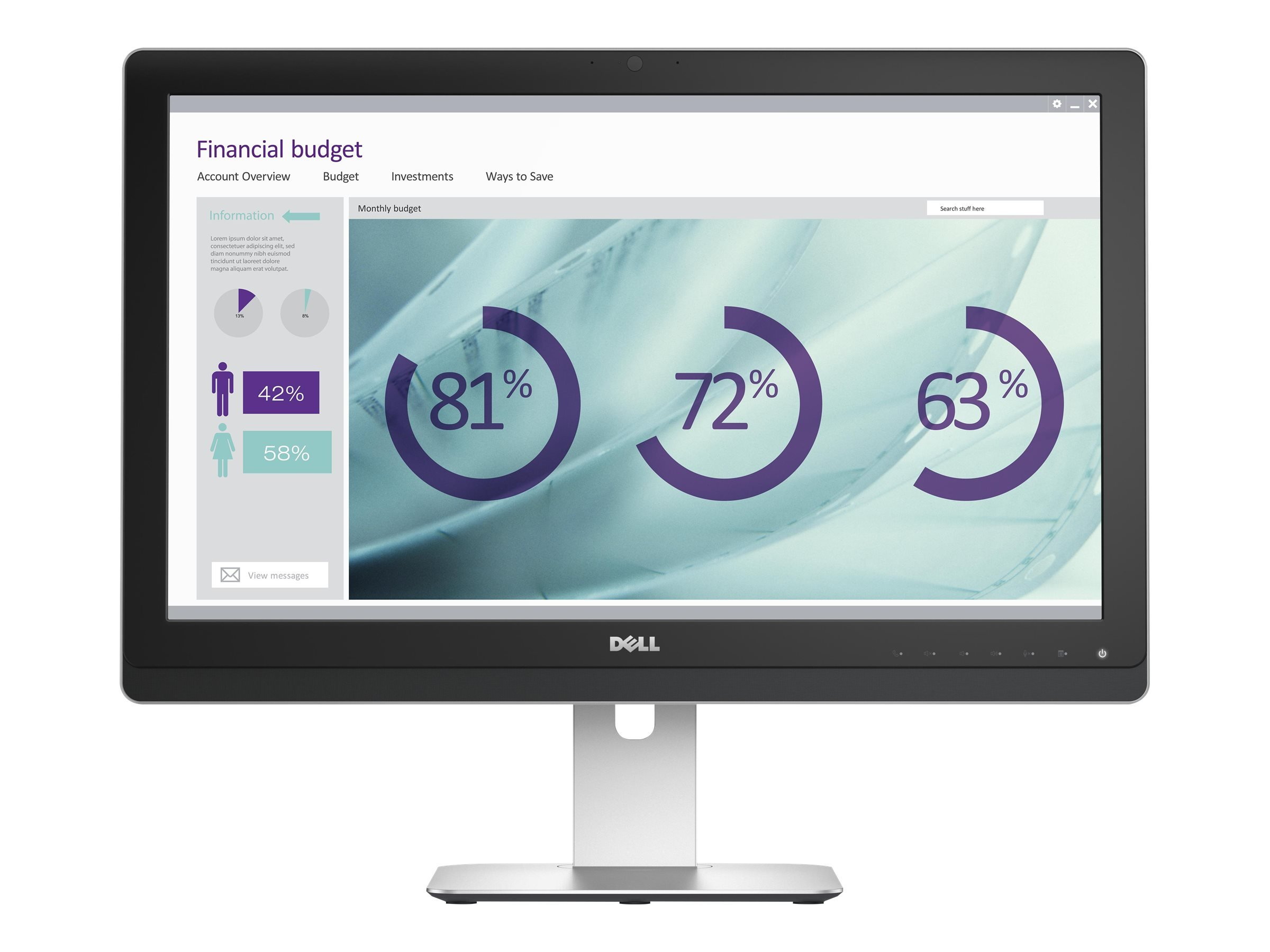 Dell Ultrasharp UZ2315H 23-Inch Screen LED-Lit Full HD Monitor with Webcam and Speakers by Dell (Image #3)