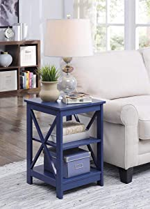 Convenience Concepts Oxford End Table, Cobalt Blue