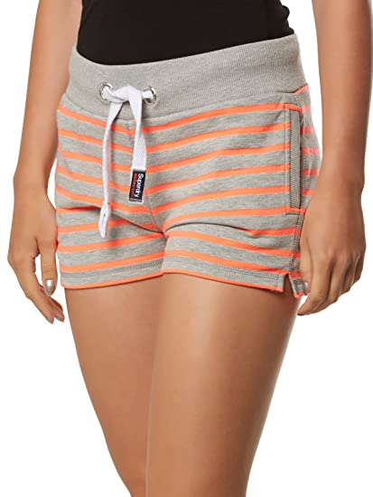 Superdry Women's Sun & Sea Lite Shorts Grey/Coral - XS (UK 6