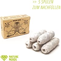 Nature Nerds - (no glas bottle) only 5 coils for refill - plastic-free natural dental floss waxed with candelilla - 150 m