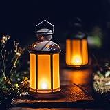 "zkee 15"" Vintage Style Lantern White Battery"