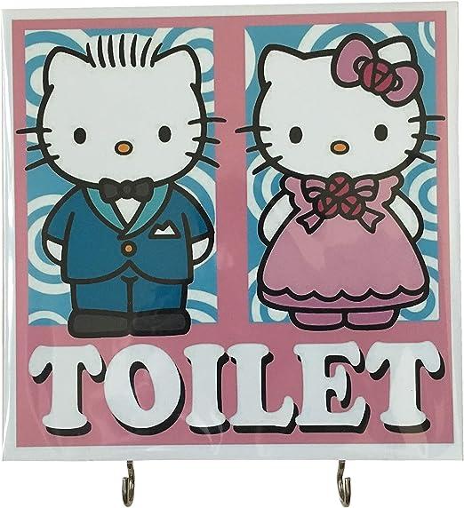 """Hello Kitty Sign Board """"TOILET"""""""