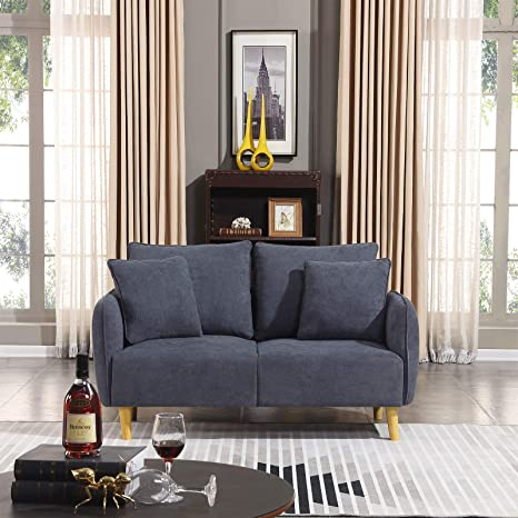Amazon.com: Honbay Modern Convertible Love seat Chenille ...