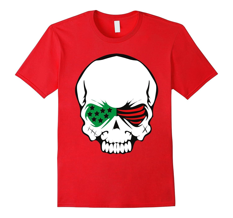 African American Flag Skull T-shirt-ANZ