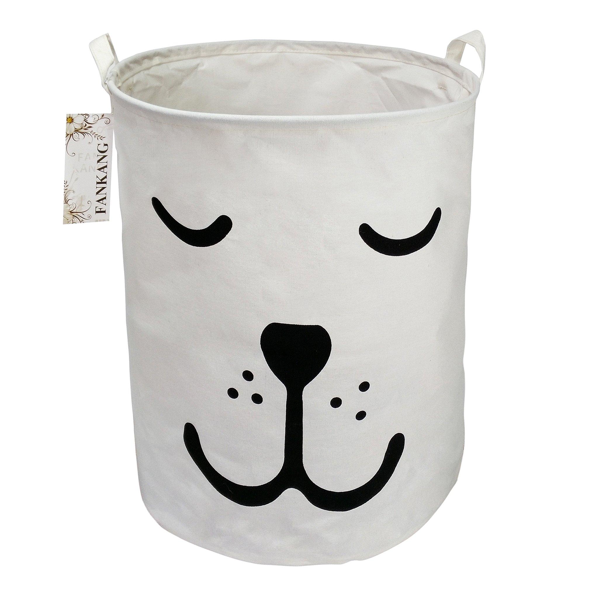 FANKANG Large Laundry Hamper Bucket Waterproof Coating Storage Bin Collapsible Washing Basket Home Nursery Toy Organizer (Dog)