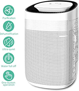 Honati Home Dehumidifier, 1000 ML Ultra Quiet Small Portable Dehumidifiers for Basements, Bedroom, Bathroom, Baby Room (Up To 215 Sq Ft)