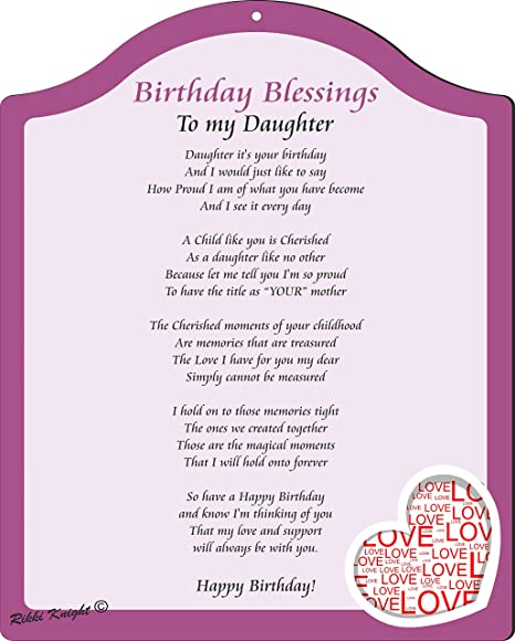Rikki Knight Birthday Blessings To My Daughter From Mom Purple And