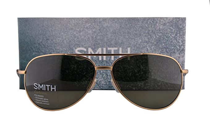 0e21dd7075a Image Unavailable. Image not available for. Colour  Smith Rockford  Sunglasses Matte Gold w Polarized Gray Green ...