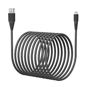 Long iPhone Charger Cord,16FT/5M [Apple MFi Certified] Lightning Cable Nylon Braided Fast iPhone Charger Cable 2.4A for iPhone 12/11 Pro Max/11 Pro/XS/XR/X/8/7/SE iPad