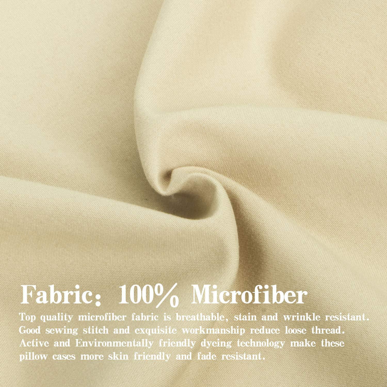 100/% Silky Soft Microfiber Mint 13 x 18 2 Pcs Zipper Closure Travel Pillow Covers NTBAY Toddler Pillowcases Set