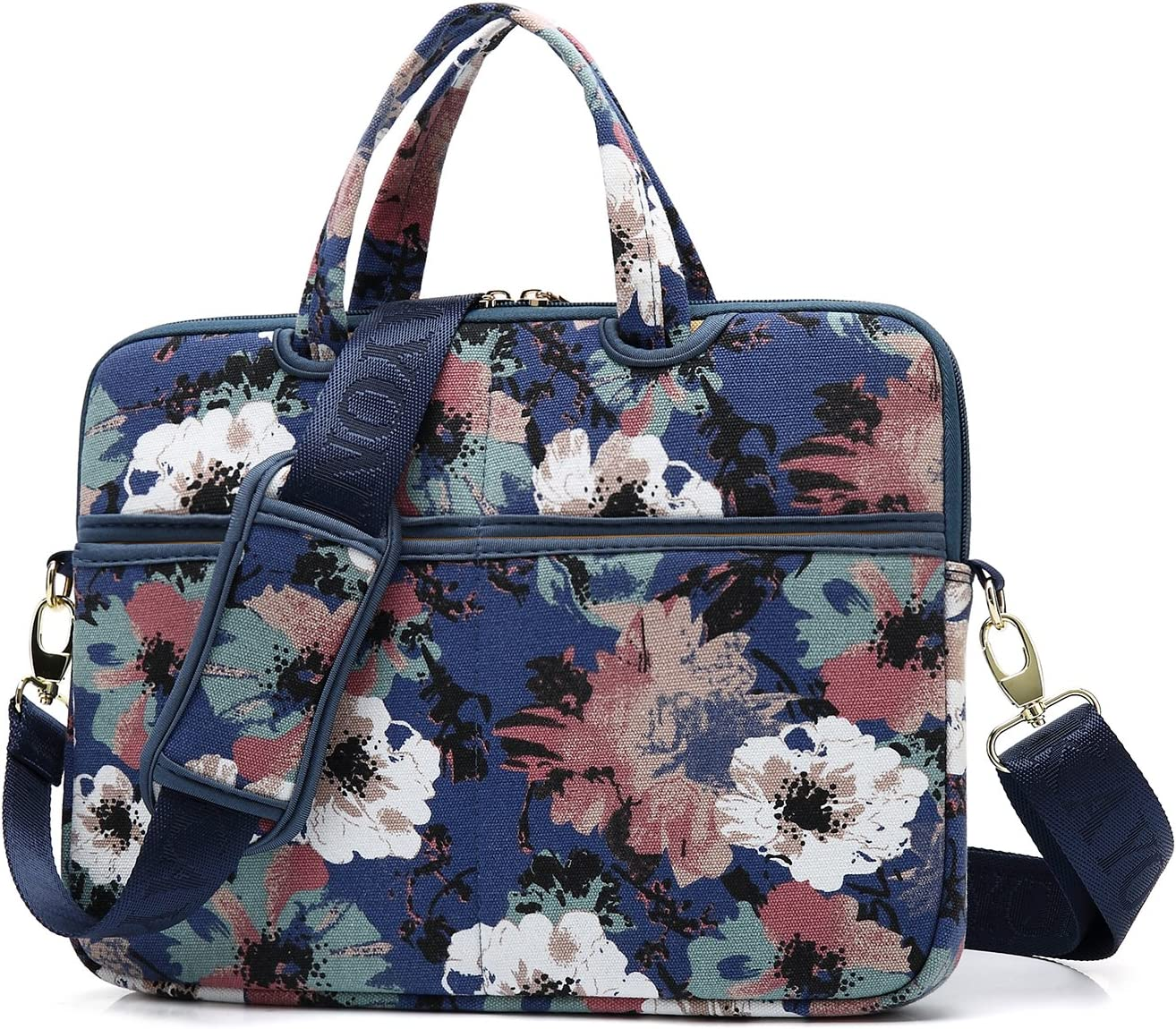 KAYOND Watercolor Orchid Patten water resistant Laptop Shoulder Messenger Bag Case Sleeve for 12 Inch 13 Inch Laptop,Laptop Briefcase