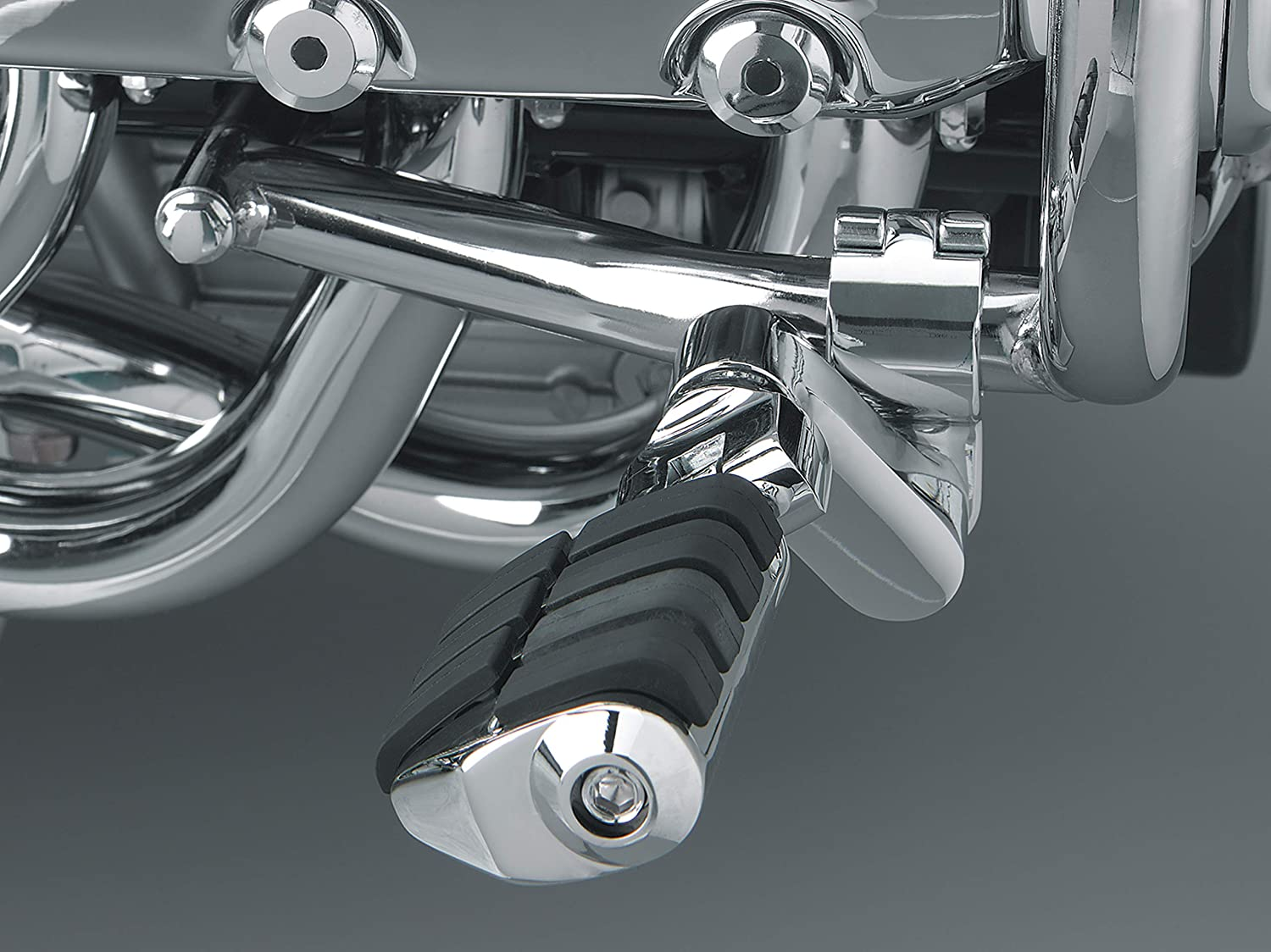 Chrome Engine Guards//Tubing 1.35 1 Pair Kuryakyn 7933 Motorcycle Foot Controls: Offset Large ISO Highway Pegs with Magnum Quick Clamps for 1-11//32