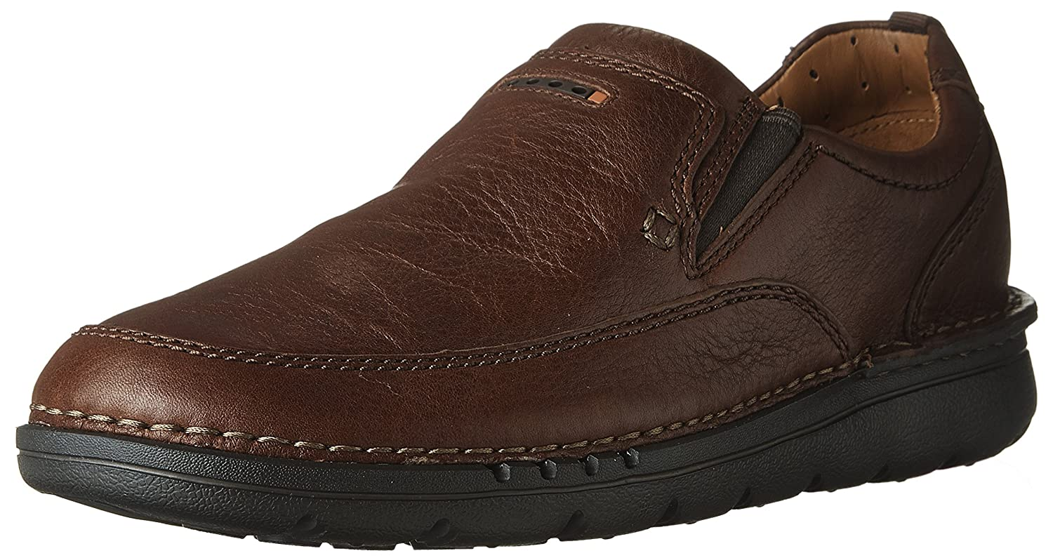 Cuir Marron Clarks - Chaussure Unnature Easy Homme