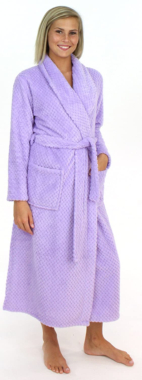 Sleepyheads Bata Larga Guateada de vellón Mullido para Mujer: Amazon.es: Ropa y accesorios