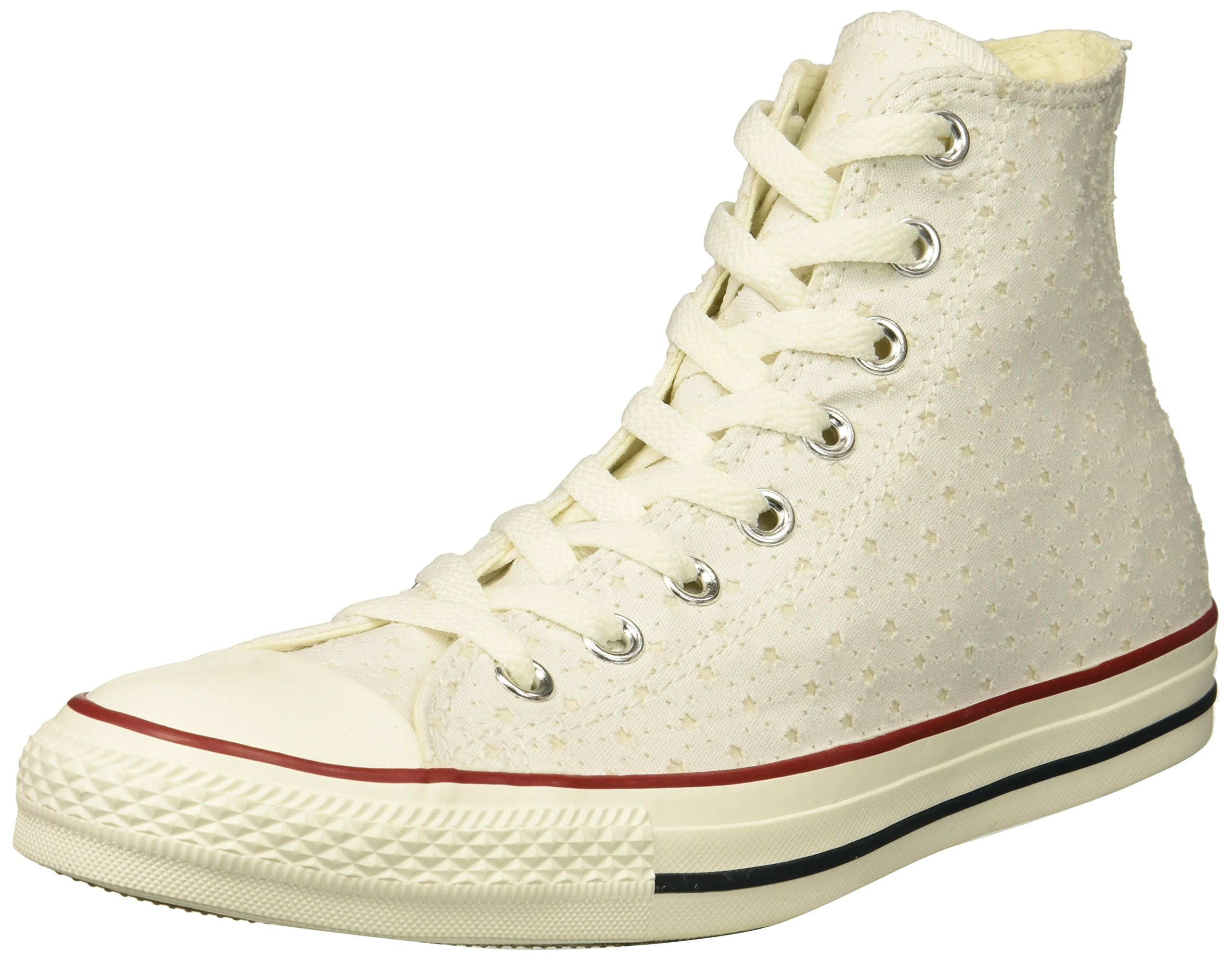 67e7605d0961 Converse Women s Chuck Taylor Perforated Stars High Top Sneaker  White Garnet Athletic Navy 8.5