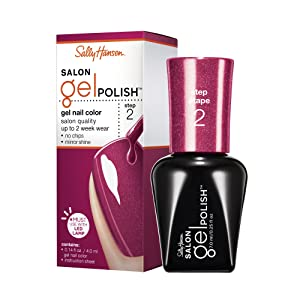 Sally Hansen Salon Pro Gel, Wine Not, 0.14 Fluid Ounce