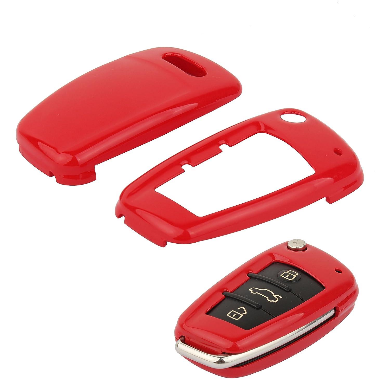 TOMALL Smart Remote Key Fob Shell Carbon Fiber Pattern For Audi A3 A4 A6 A8 TT Q7