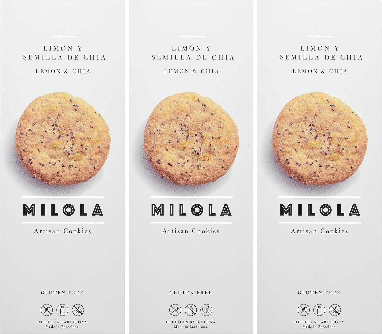 Milola, Galleta de Limón y Semillas de Chía - 3 de 140 gr. (Total ...