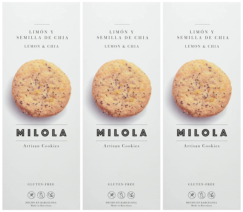 Milola, Galleta de Limón y Semillas de Chía - 3 de 140 gr. (Total 420 gr.): Amazon.es: Alimentación y bebidas