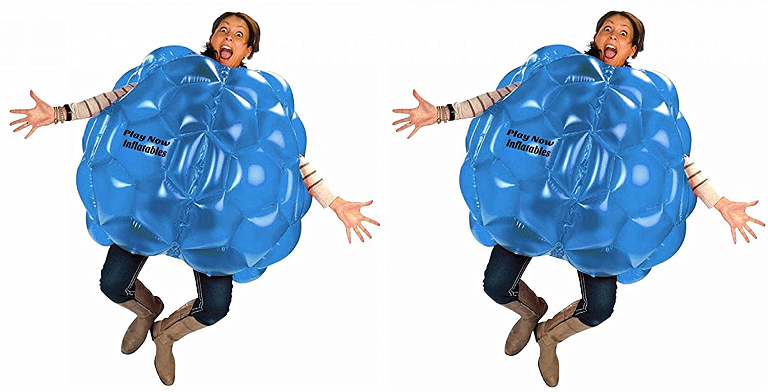 (2-Pack) Wearable Inflatable Bumper Balls 36 - Bubble Soccer Suits- Set of Two (2) Balls - For Kids or Small Adults - Blow Up Toy in 5 Min. Boy Girl Outdoor Game by Play Now Inflatables