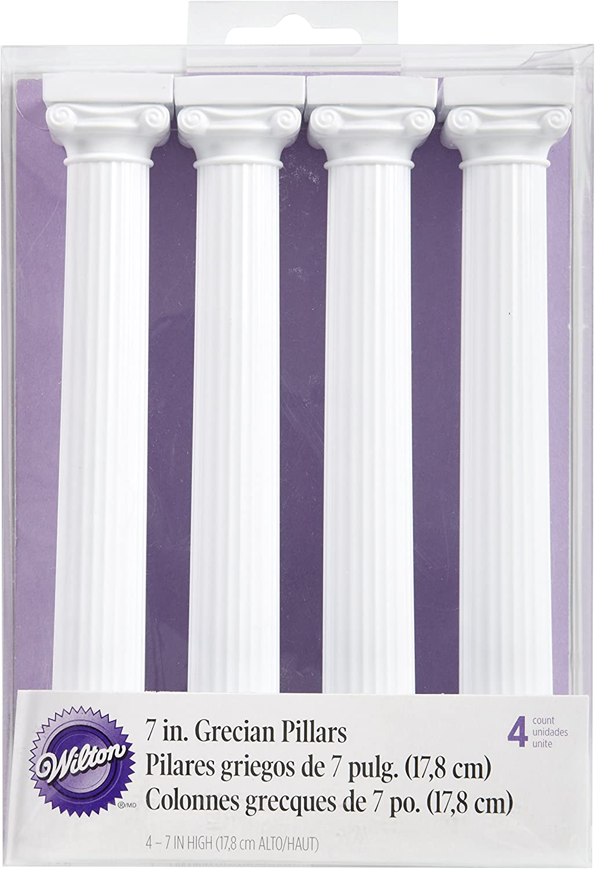 Wilton 4-Pack Grecian Pillars for Cakes, 17,8 cm,White