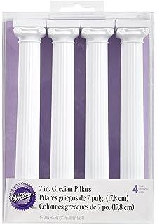 Wilton 303-3705 Pack de 4 Columnas Estilo Griego para Tartas, 17,8