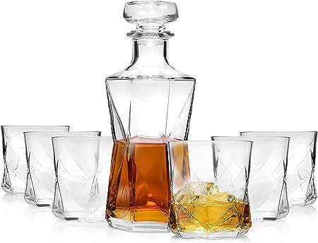 Servizio Whisky in cristallo Bormioli 7 pezzi