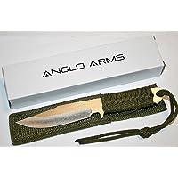 Couteau d'extérieur «Green Survival» Couteau de chasse Anglo Arms Outdoor Survie Chasse