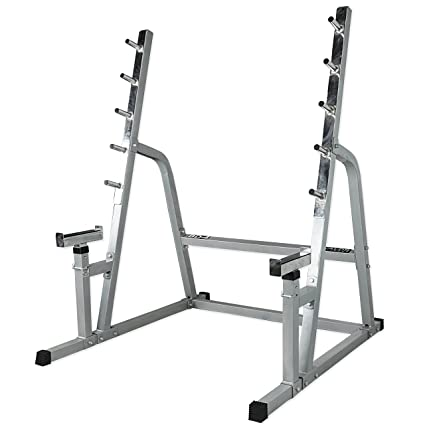 Valor Fitness Bd 4 Safety Squat Bench Rack Combo Bars