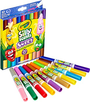 10-Count Crayola Silly Scents Sweet Dual Ended Markers
